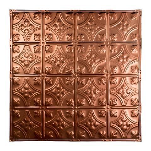 Great Lakes Tin Hamilton Vintage Bronze 2-foot x 2-foot Nail-Up Ceiling Tile (Carton of 5)