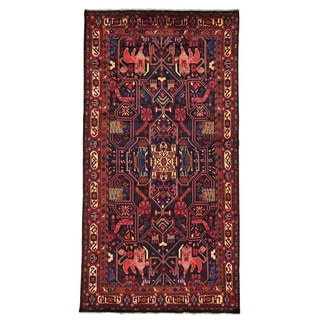 Hand-knotted Full Pile Wide Gallery Persian Nahavand Area Rug (5'1 x 10')