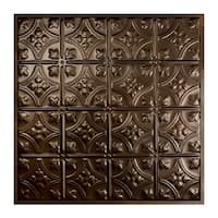 Great Lakes Tin Hamilton Bronze Burst 2-foot x 2-foot Lay-In Ceiling Tile (Carton of 5)