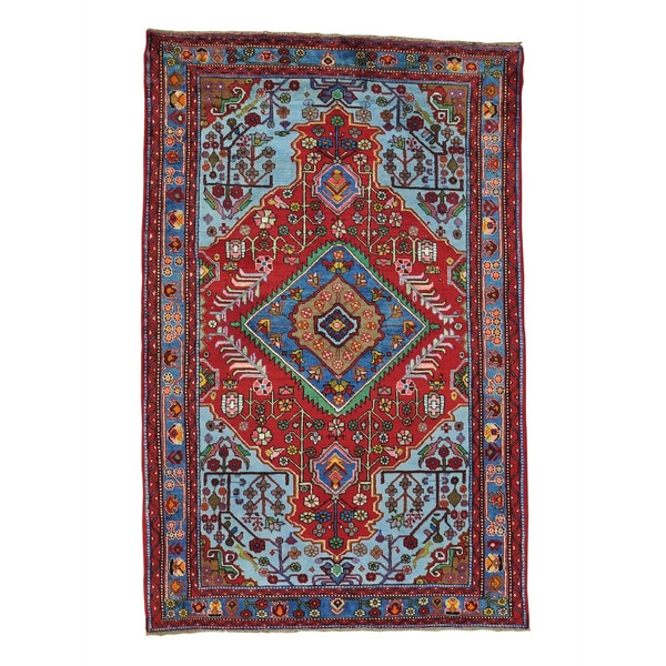 Hand Knotted Persian Style Wool Pile Area Rug: Shop Hand-knotted Full Pile Pure Wool Persian Nahavand