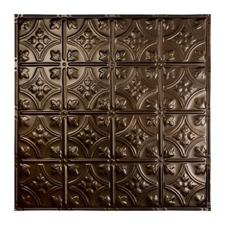 Great Lakes Tin Hamilton Bronze Burst 2-foot x 2-foot Nail-Up Ceiling Tile (Carton of 5)