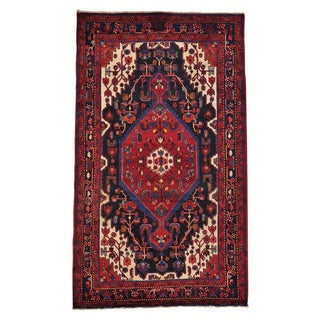 Handmade Pure Wool Persian Nahavand Oriental Area Rug (5'5 x 9'4)