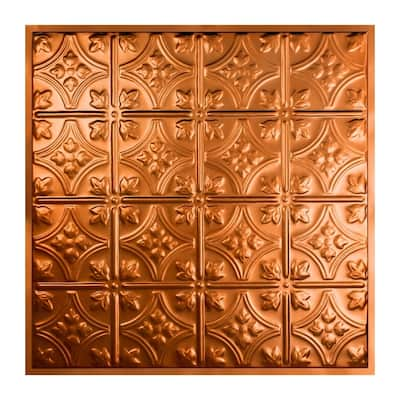 Great Lakes Tin Hamilton Copper 2-foot x 2-foot Lay-In Ceiling Tile (5 Pack)
