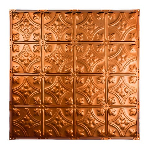 Great Lakes Tin Hamilton Copper 2-foot x 2-foot Nail-Up Ceiling Tile (Carton of 5)