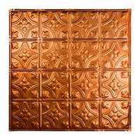Great Lakes Tin Hamilton Copper 2-foot x 2-foot Nail-Up Ceiling Tile (Carton of 5)