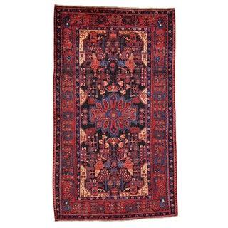 Handmade Persian Nahavand Pure Wool Full Pile Area Rug (5'2 x 9')