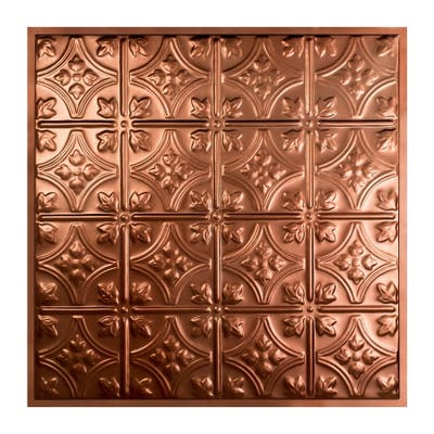 Great Lakes Tin Hamilton Vintage Bronze 2-foot x 2-foot Lay-In Ceiling Tile (5 Pack)