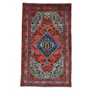 Handmade  Full Pile Persian Nahavand Oriental Area Rug (5' x 8'3)