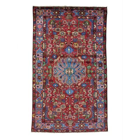 Handmade Full Pile Persian Nahavand Oriental Area Rug - 4'9 x 8'