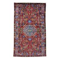 Handmade Full Pile Persian Nahavand Oriental Area Rug (4'9 x 8')