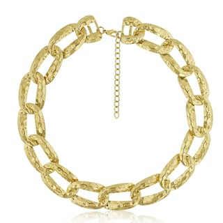 Gold Over Brass Brass Link Chain Necklace, 16 Inches|https://ak1.ostkcdn.com/images/products/10672933/P17737274.jpg?impolicy=medium