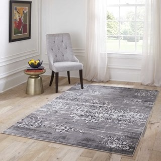 Machine Made Mardin Grey Polypropylene & Viscose Rug (8'6 x 11'6)