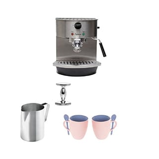 Jura-Capresso 119 Stainless Steel Pump Espresso/Cappuccino Machine + Steel 18/8 Gauge, 20-Ounce Frothing Pitcher + Accessories