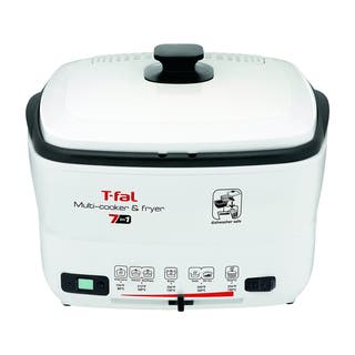 T-Fal FR490051 White 7-in-1 Multi-Cooker & Deep Fryer|https://ak1.ostkcdn.com/images/products/10672958/P17737283.jpg?impolicy=medium
