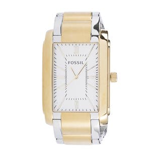 Fossil Men's PR5413 Analog Rectangle Champagne Dial Two-Tone Stainless Steel Bracelet Watch|https://ak1.ostkcdn.com/images/products/10672963/P17737306.jpg?impolicy=medium