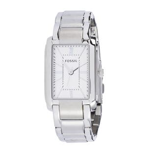 Fossil Women's PR5421 Analog Rectangle Silver Dial Silver-Tone Stainless Steel Bracelet Watch|https://ak1.ostkcdn.com/images/products/10672970/P17737308.jpg?impolicy=medium