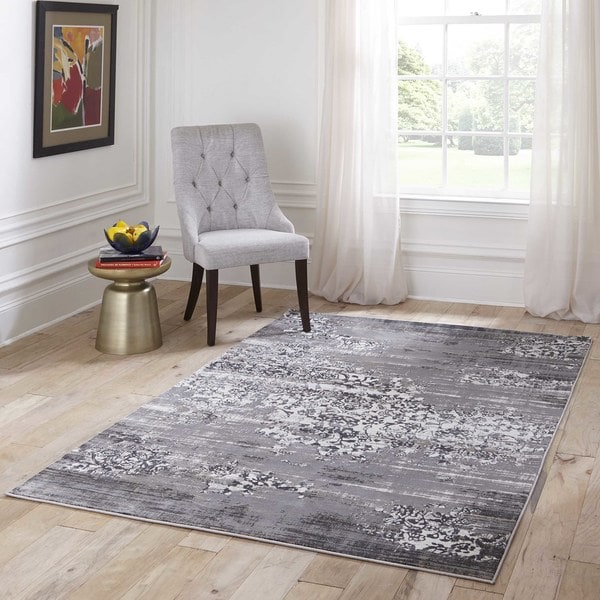 Mardin Grey Abstract Area Rug (7u0026#39;6 x 9u0026#39;6) - Free Shipping Today - Overstock.com - 17737296