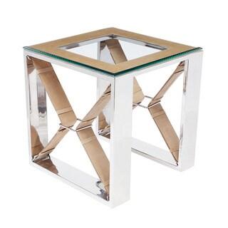 Wellington Tan Side Table- Square