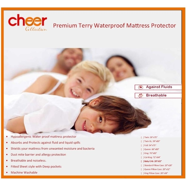 Cheer Collection Premium Cotton Terry Waterproof Mattress Protector
