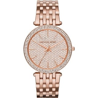 Michael Kors Women's MK3439 Darci Crystal Pave Dial Rose-Tone Glam Watch