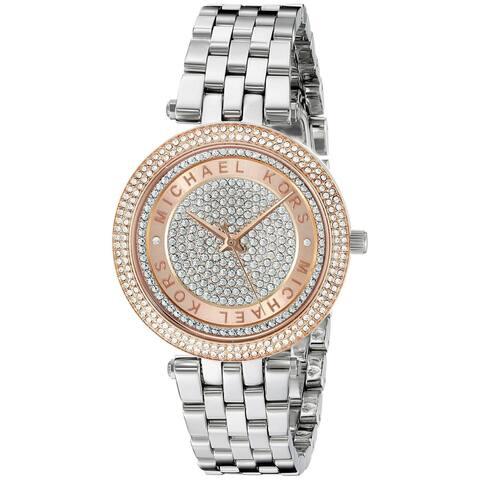 Michael Kors Women's MK3446 Mini Darci Crystal Pave Dial Stainless Steel Bracelet Watch
