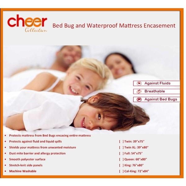 Cheer Collection Bed Bug Waterproof Mattress Encasement / Protector