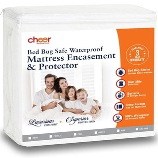 Cheer Collection Bed Bug Waterproof Mattress Encasement / Protector