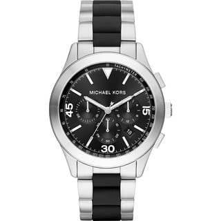 Michael Kors Men's MK8452 Gareth Chronograph Black Dial Two-Tone Bracelet Watch