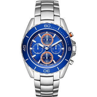 Michael Kors Men's MK8461 Jetmaster Chronograph Blue Dial Stainless Steel Bracelet Watch