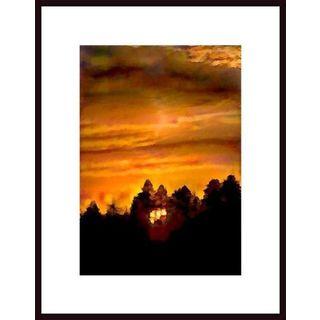 John Nakata 'Impressionistic Sunset' Framed Art