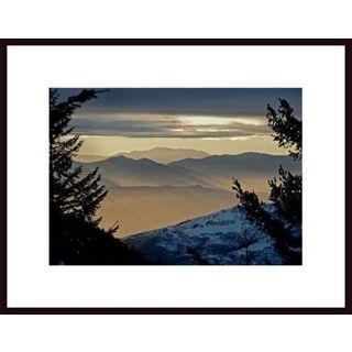 John Nakata 'Ashland Sunset' Framed Art