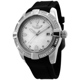 ISW Splash Swiss Quartz ISW-1008-02ISW Women's Splash ISW-1008-02 Swiss Quartz Stainless Steel Watch with Black Silicone Strap