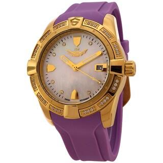 ISW Women's Splash ISW-1008-07 Swiss Quartz Watch Stainless Steel Watch with Purple Silicone Strap
