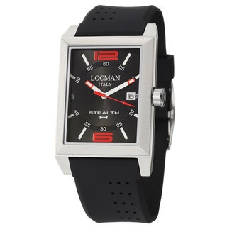 Locman Mens Watch Stainless Steel Stealth R Quartz Black 240BKRD1BK Watch