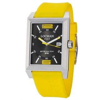 Locman Men's 'Sport' Stainless Steel and Rubber 240BKYL1YL Watch