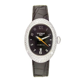 Locman Women's Nuovo Diamond and Leather 015BK2D Watch