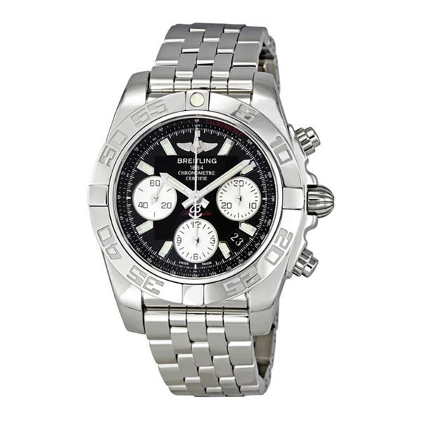 f4ea4f293b2 Shop Breitling Chronomat 41 Black Dial Automatic Men s Watch - Free  Shipping Today - Overstock - 10673247