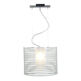 Access Lighting Enzo 16 inch 1-light Chrome Pendant, Clear