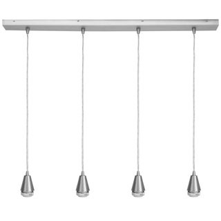 Access Lighting Quadra 4-light Steel Teardrop Linear Pendant