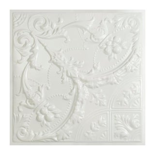 Great Lakes Tin Saginaw Matte White 2-foot x 2-foot Lay-In Ceiling Tile (Carton of 5) (2 options available)
