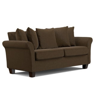 Handy Living Colfax Chocolate Brown Chenille Pillow Back SoFast Sofa