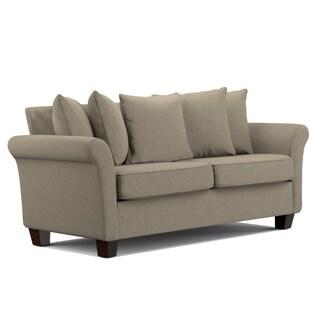 Portfolio Colfax Grey-Taupe Chenille Pillow Back SoFast Sofa