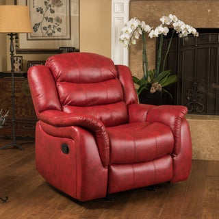 Hawthorne PU Leather Glider Recliner Chair by Christopher Knight Home (2 options available)