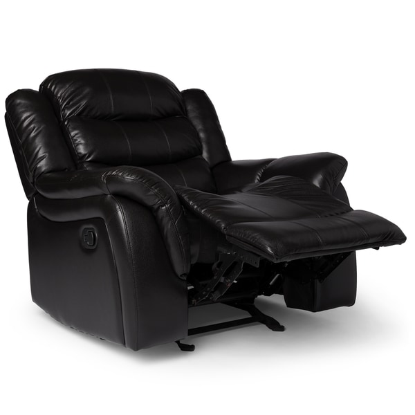 hawthorne pu leather glider recliner chair by christopher knight home free shipping today