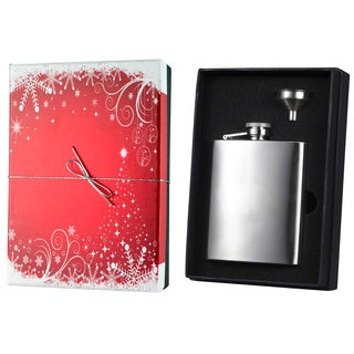 Visol Derek Stainless Steel Holiday Essential Liquor Flask Gift Set - 8 ounces