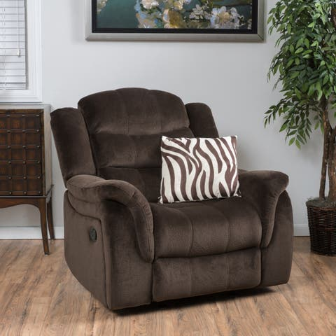 Hawthorne Fabric Glider Recliner Club Chair by Christopher Knight Home