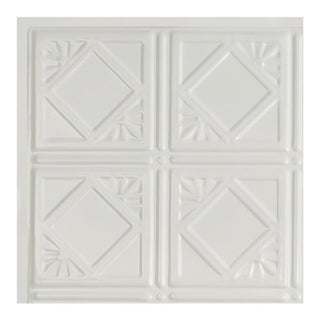 Great Lakes Tin Ludington Matte White 2-foot x 2-foot Lay-In Ceiling Tile (Carton of 5) (2 options available)