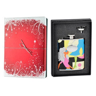 Visol Fashion Leather Holiday Essential Liquor Flask Gift Set - 6 ounces