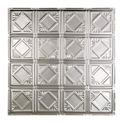 Great Lakes Tin Ludington Unfinished 2-foot x 2-foot Nail-Up Ceiling Tile (5 Pack)