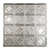 Great Lakes Tin Ludington Unfinished 2-foot x 2-foot Nail-Up Ceiling Tile (Carton of 5)